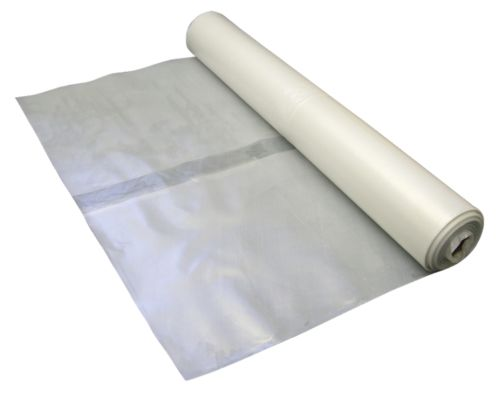 4m Wide x 25m Long Clear Polythene / Plastic Sheeting Rolls 125Mu / 500 Gauge