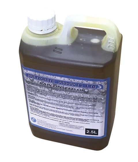 RAW LINSEED OIL - 1L, 2.5L or 5L