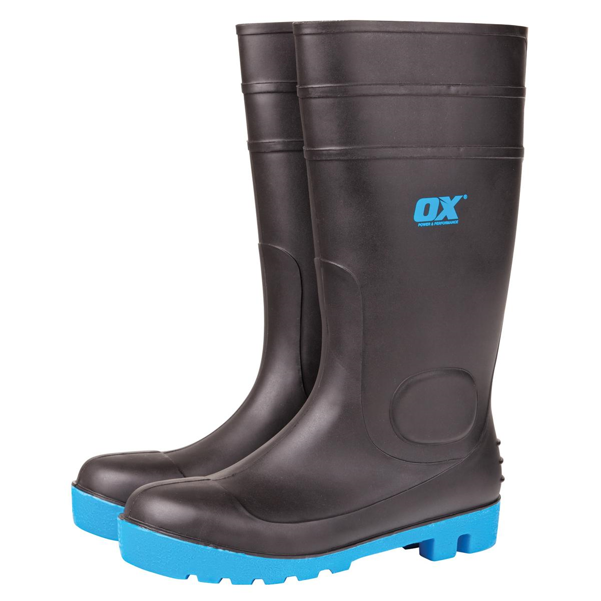 safety wellington boots steel toe and midsole steel toe