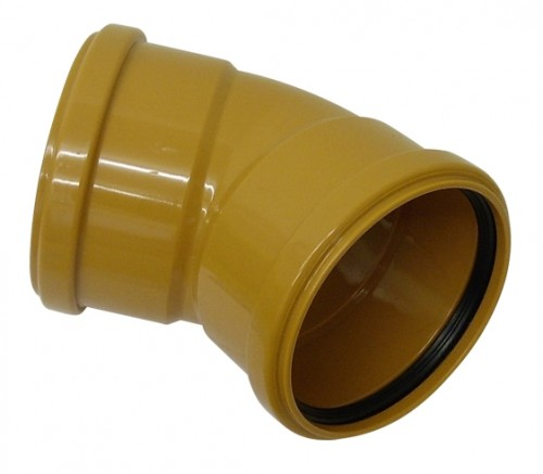 Underground Drainage Double Socket 45 Degree - 110mm