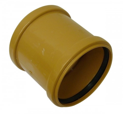Underground Drainage Double Socket Coupler - 110mm